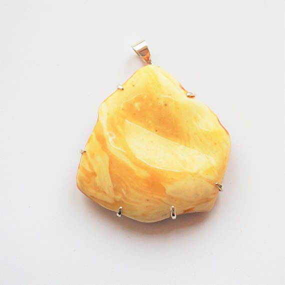 Natural White Amber Pendant 368g