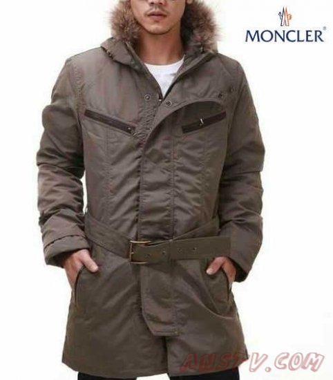 Moncler Fur Manteau in beige