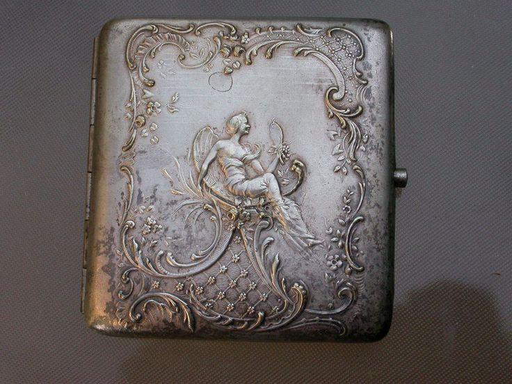 My french silver cigarette case.