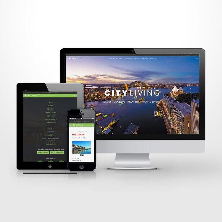 Identity treatment plus Responsive WordPress website design for City Living. #Responsive #website #wordpress #ui #ux #uidesign #uxdesign #userexperience #userinterface