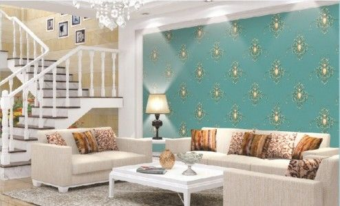 50 contoh wallpaper dinding ruang tamu minimalis   ruangan