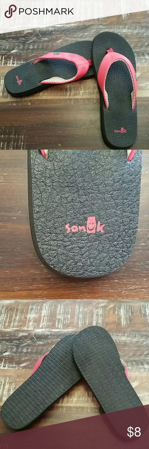 Sanuk flip flops, never worn! Sanuk flip flops never worn.  Yoga mat soles for extra comfort! Sanuk Shoes Sandals