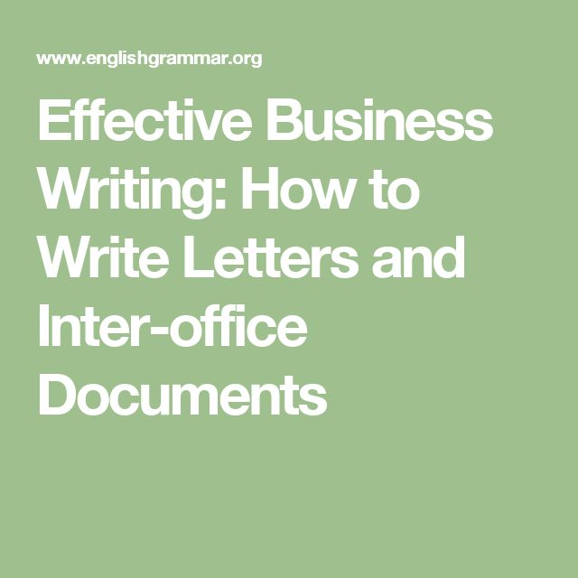 Effective Business Writing How To Write Letters And Inter Office   Inter  Office Letter  Inter Office Letter