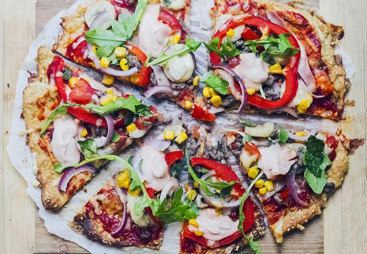 Glutenfri hemgjord pizza - woop woop! :) (Utan gluten, (ko)mjölk och socker.)