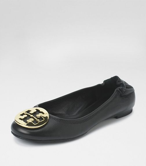 Tory Burch: classic REVA ballet flat.  Every woman needs at least one pair of these.  Shopping tip, if it's in patent leather or a print, you may need a half size up.