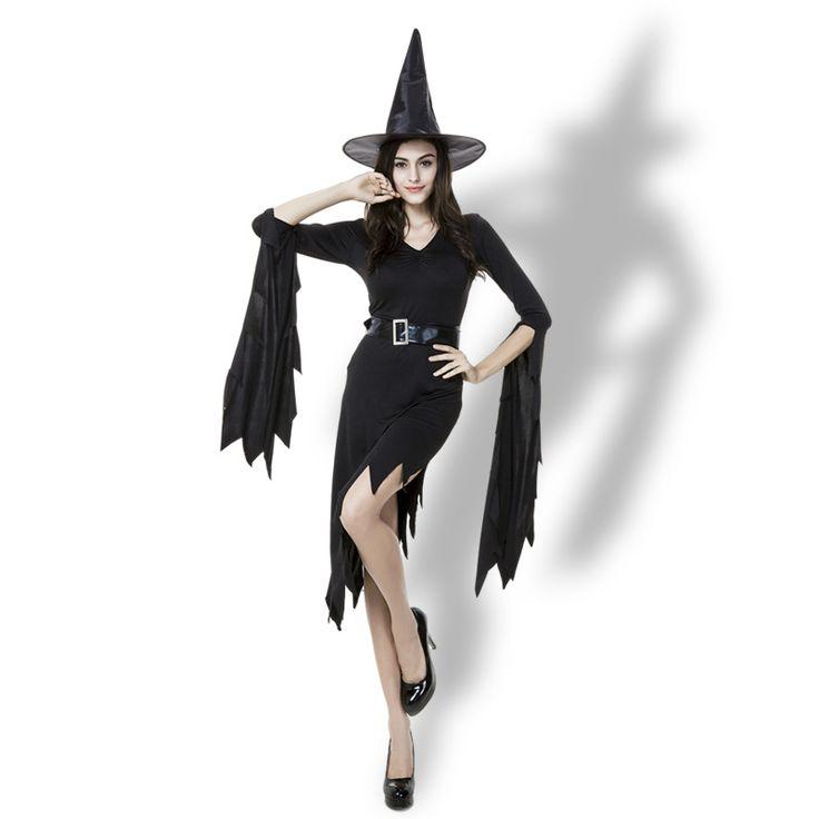 「コスプレ衣装専門販売店ーコスオ」で取り扱う商品「Witch Costumes  ブラック 魔女  ドレス  ハロウィン コスプレ服-Halloween-trw0725-0236」の紹介・購入ページ