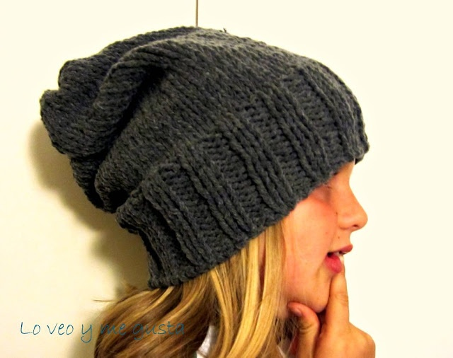 Gorro tejido con 2 agujas. | Ropa invierno | Pinterest