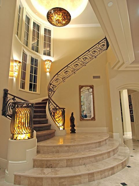 Foyer Curved Staircase : Stairway home decor pinterest stairways and