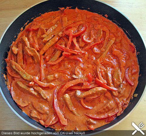Paprika-Geschnetzeltes