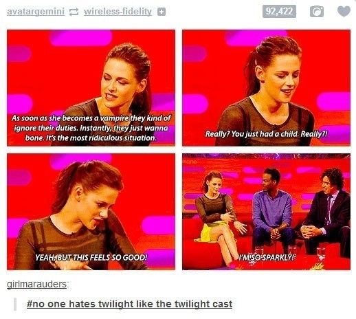 Even the cast hate Twilight  - funny pictures #funnypictures