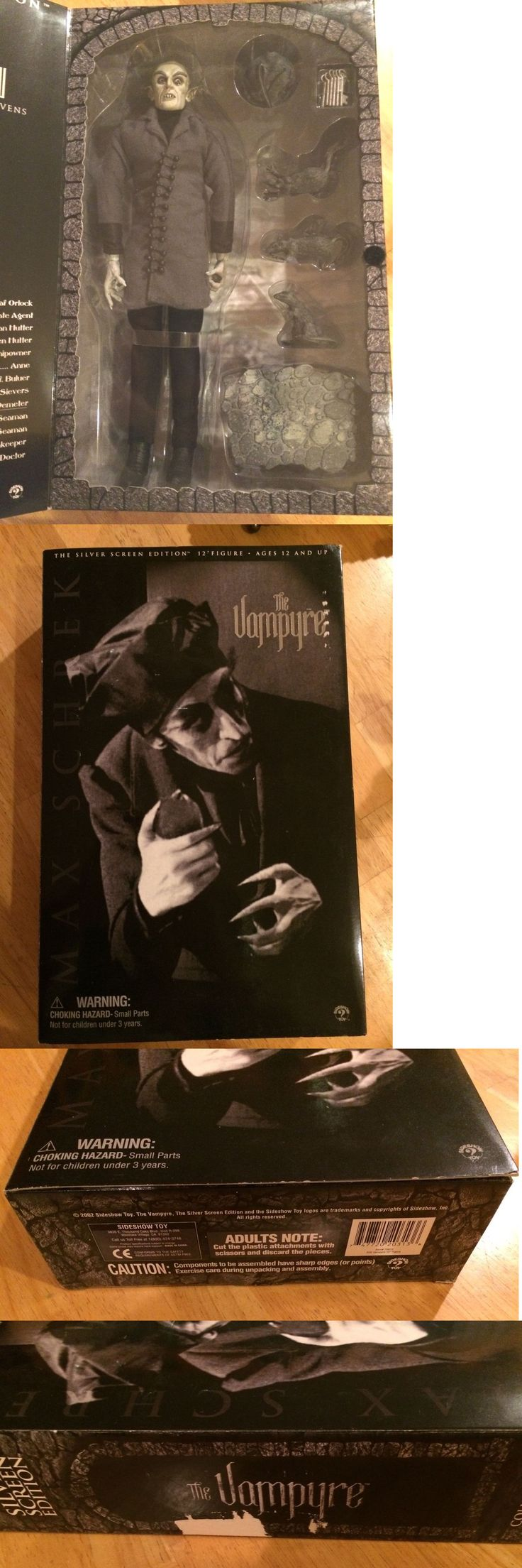 Dracula 19194: 2002 Sideshow Toy The Vampyre Vampire Silver Screen Edition Nosferatu Horror Fig -> BUY IT NOW ONLY: $165 on eBay!