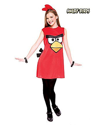 Fantasia de Angry Birds para meninas.