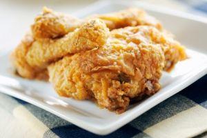 The Deen Brothers' Lighter Fried Chicken #healthy #chicken #dinner #meal #deen brothers #recipe