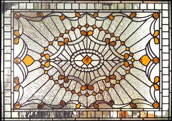 HADDINGTONSP large custom Victorian style stained and leaded glass window
