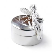 Tales from the Earth Silver First Tooth Box This sterling silver tooth fairy is happy to look after your little ones first tooth for years and years. Find a safe place to keep this specialbox and peek into it every so often to remember golden  http://www.comparestoreprices.co.uk/baby-products--other/tales-from-the-earth-silver-first-tooth-box.asp