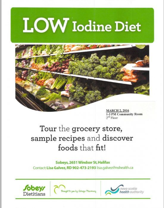 Thyroid Cancer Information and Resources - Thyroid Cancer Canada - Low Iodine Diet