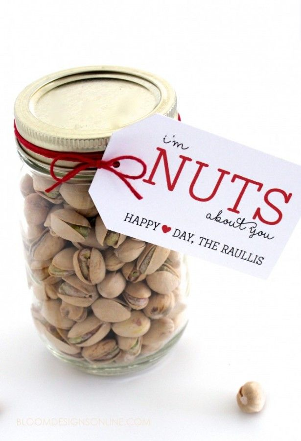 Nuts About You Jar Gift Valentines Day Ideas Pinterest