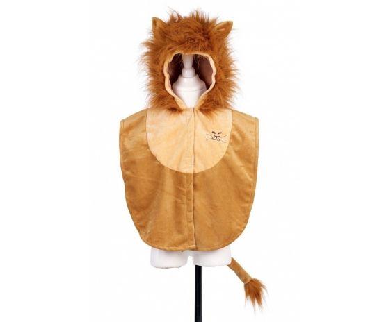 Das Löwenkostüm ist ein Cape mit Kaputze für kleinere Kinder. Seitlich ist es offen und mit Gummis verbunden und vorne mit Klett zu verschliessen. Daher ist die Größe recht flexibel, aber für Kinder zwischen 3 und 5 Jahren ideal. #lion #verkleidung #kleinkinder #fasching #löwe