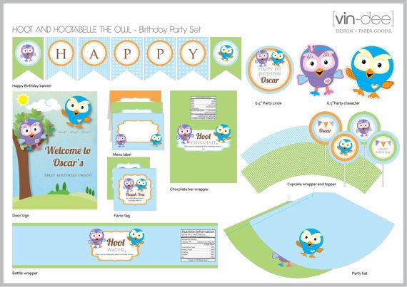 Printables from etsy - hoot and hootabelle