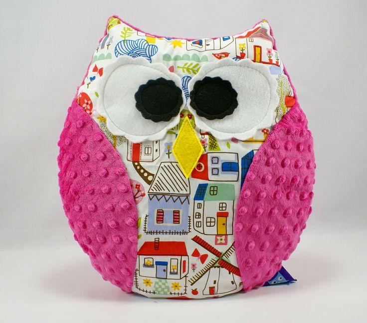 #owl #pillow #minky #littlesophie check www.littlesophie.pl