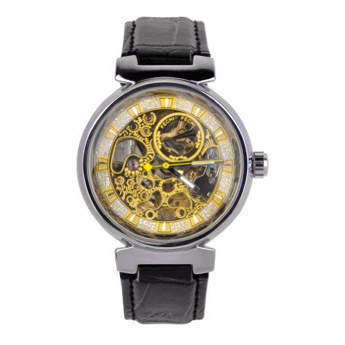 ZLYC Men's Black Leather Strap Stainless Steel Automatic Mechanical Skeleton Watch ZLYC http://www.amazon.com/dp/B00JJIP9PK/ref=cm_sw_r_pi_dp_xIvPtb07KE50NAW8