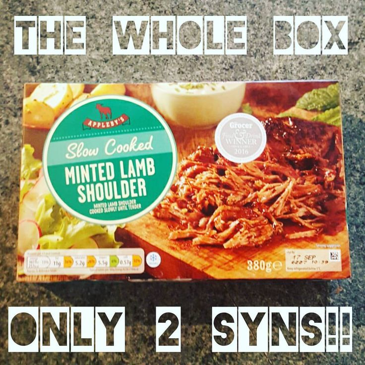 From Aldi minted lamb shoulder. 2 syns