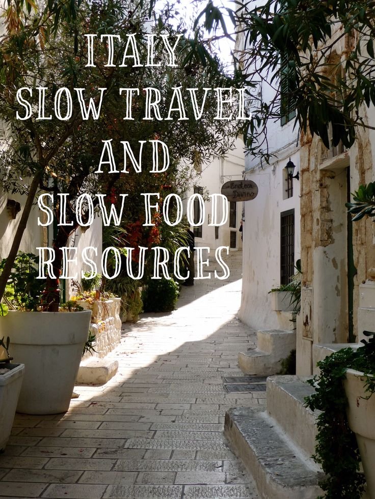 Travel Resources for Slow Food, Wine and Stays in Italy
