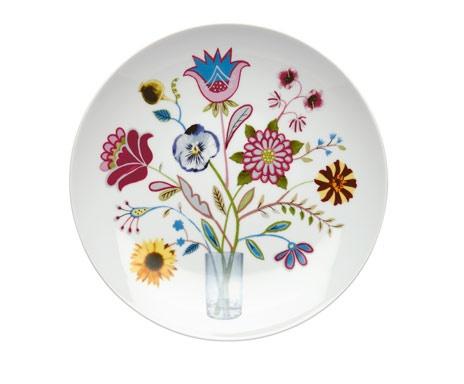 Servierteller KurbitsGoogle Image, Swedish Design, Folk Art, Rörstrand Kurbits, Vans Rorstrand, Kurbits Servings, Swedish Kurbits, Kurbits Vans, Flower Plates