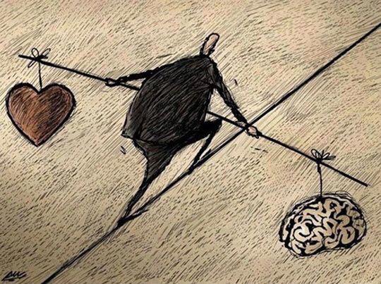 """Балансируя """"между"""" сердцем и разумом"""