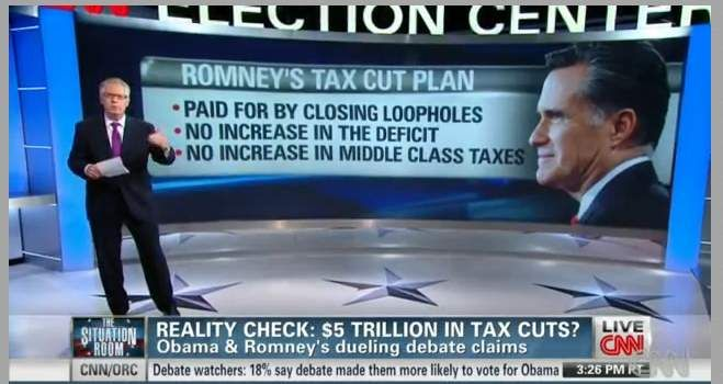 When Did Checking the Facts Become Taking a Candidate 'at His Word'?    Posted on 10/05/2012 by Peter Hart    Before the first presidential debate, CNN sent out a press release to promote the idea that they'd be doing factchecking of Barack Obama and Mitt Romney. It's kind of sad that this would be considered a novel enough idea to warrant a press release, but the actual factchecking was nothing you'd want to call attention to....