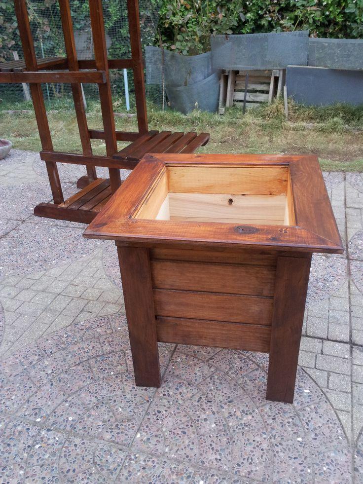 Porta maceteros en madera ideas para el hogar pinterest - Maceteros de madera ...
