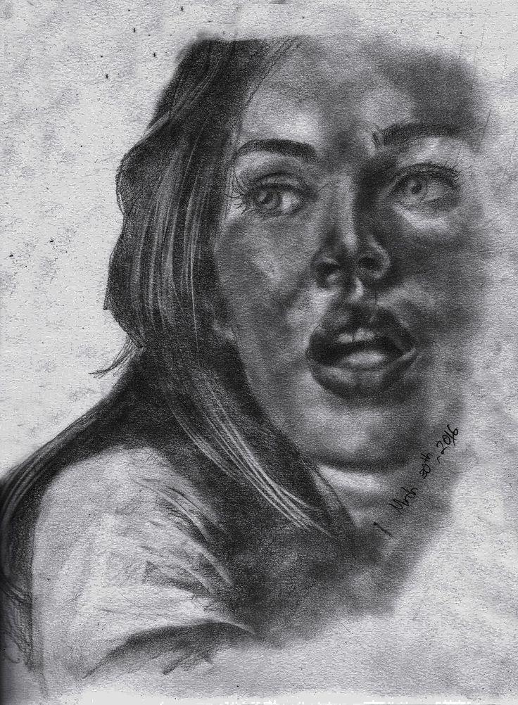 Megan Denise Fox Pencil On Paper A3