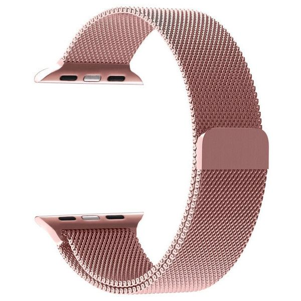 Apple Watch Band (5.570 CLP) ❤ liked on Polyvore featuring jewelry, watches, jewelry & watches, rose gold, apple wrist watch, apple jewelry, unisex jewelry, apple watches and wristband watches