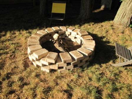 Quick easy cheap fire pit for the home pinterest for Easy backyard fire pit