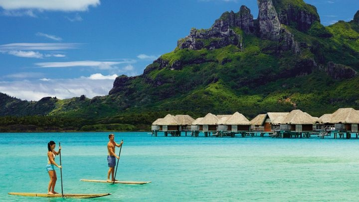 Stand-up Paddleboarding is the latest craze, and the Four Seasons Bora Bora has it!