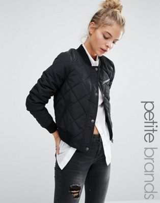 Noisy May Petite Quilted Bomber Jacket