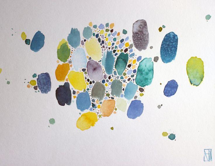 organisms II - ink on watercolour paper (2015)