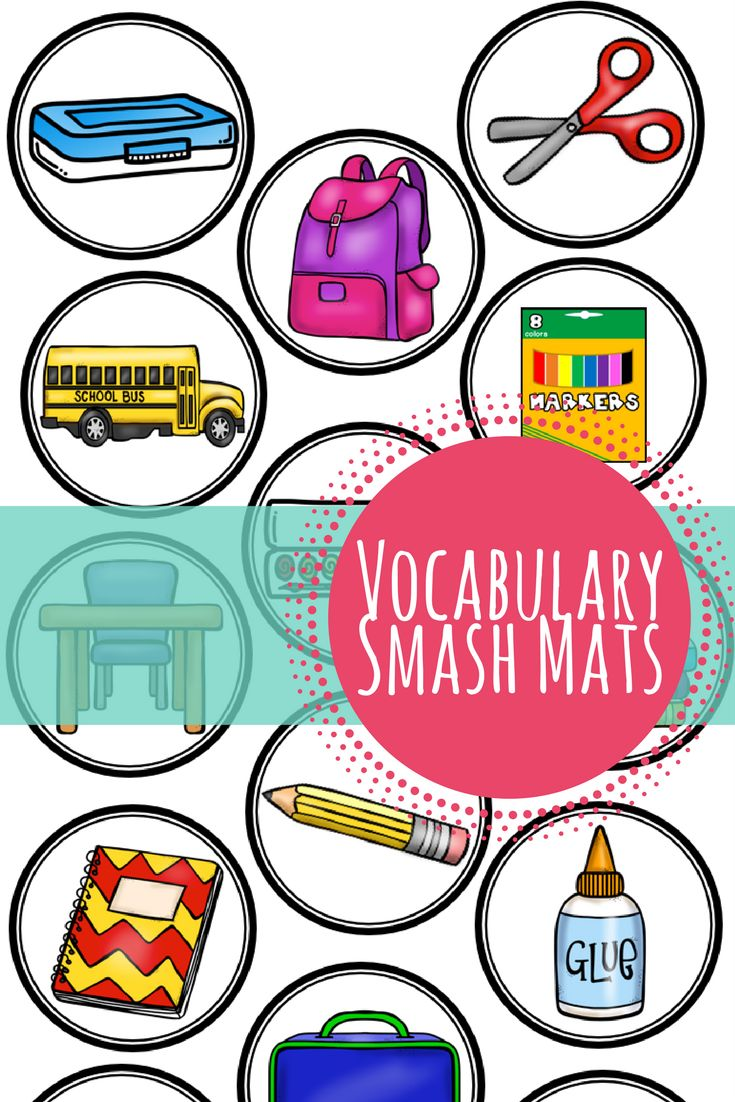 Back to School Smash Mats   Vocabulary   Speech Therapy   Occupational Therapy   Play Dough   Interactive Learning   Language