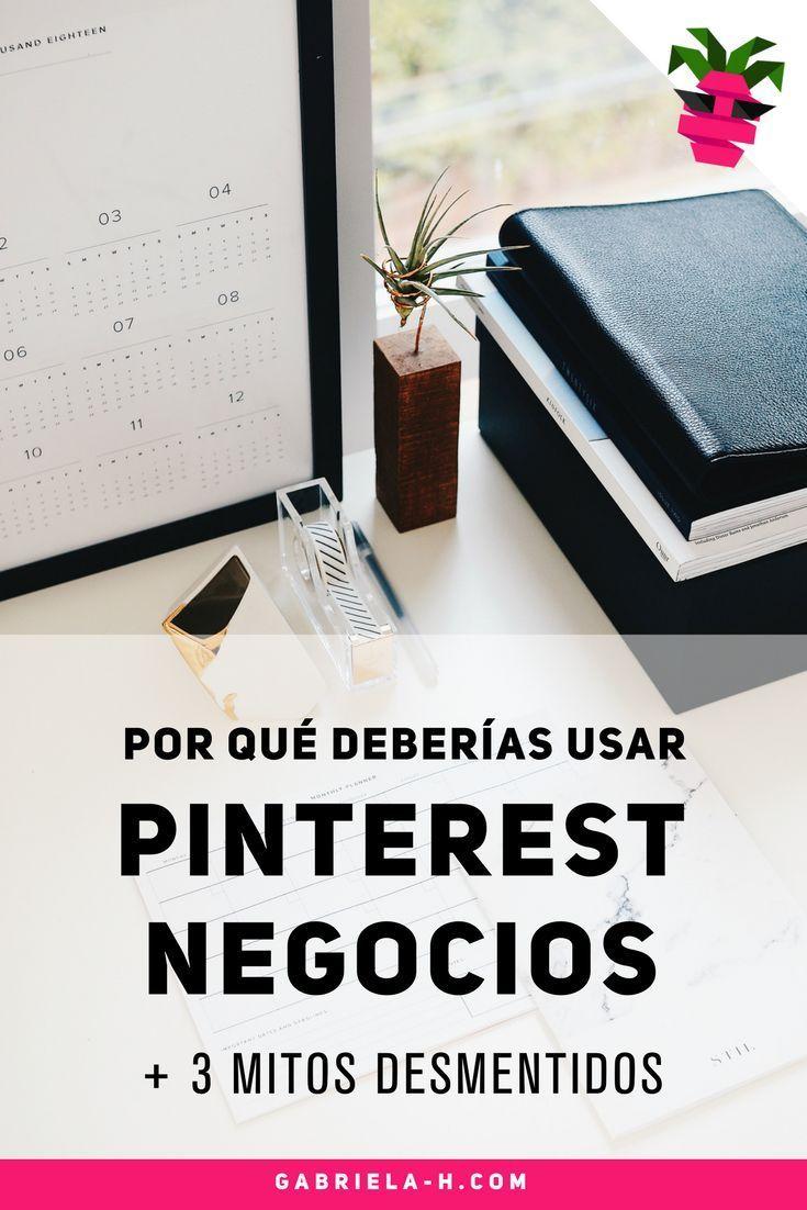 Pinterest para Empresas: Por qué deberías usarlo para tu blog + 3 mitos desmentidos sobre la plataforma. Si querés aprender a usar Pinterest para atraer nuevas visitas a tu sitio web al final de este post podrás ingresar GRATIS a un mini curso de Pinterest para crear tu cuenta, publicar tus imágenes y viralizarlas. Te espero! https://www.gabriela-h.com/blog/por-que-pinterest-negocios #pinterestmarketing #pinterestar #pinterestargentina #pinterestmexico