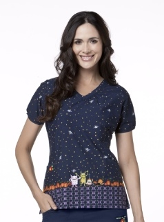 This one is just the cutest #Halloween scrub top!