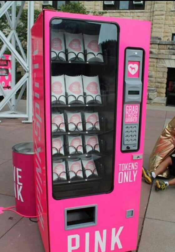 Pink vending machine
