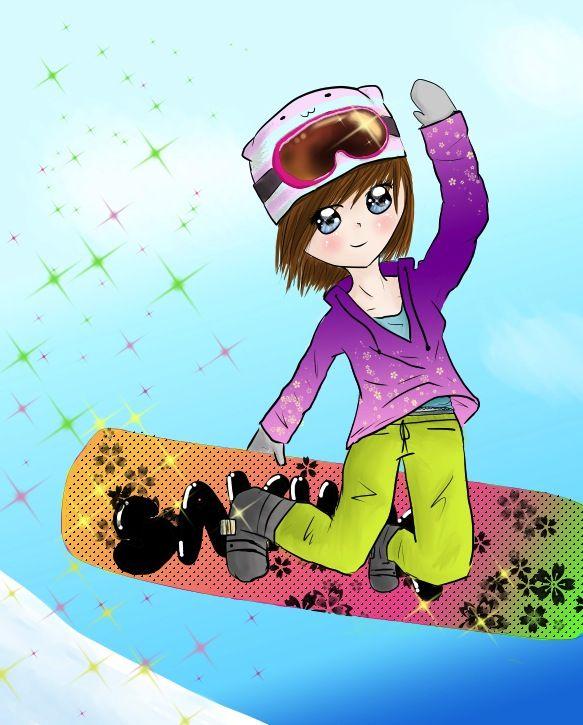 Snowboarder Girl by Morgan Mayhew