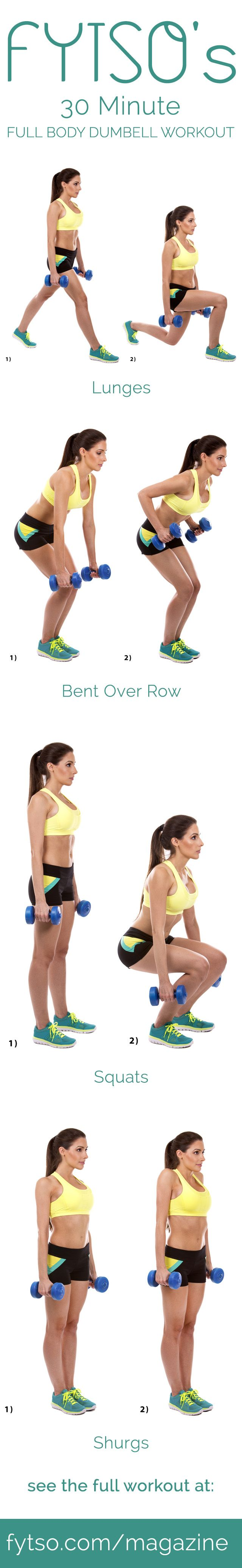 Get a really good total body workout in 30 minutes or less with only a set of dumbbells and some determination.