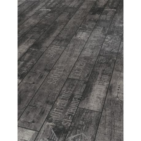 Revêtement de sol stratifié à clipser TRENDTIME 2 - Parador. 4 décors originaux. 850x95mm. 2.10m² par paquet. Wine & Fruits Noir.