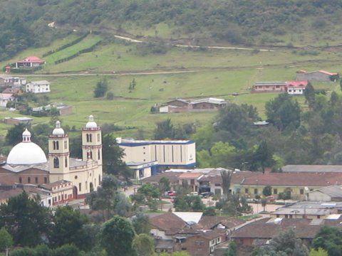 Silvia Cauca Colombia. Vista del pueblo de lo alto