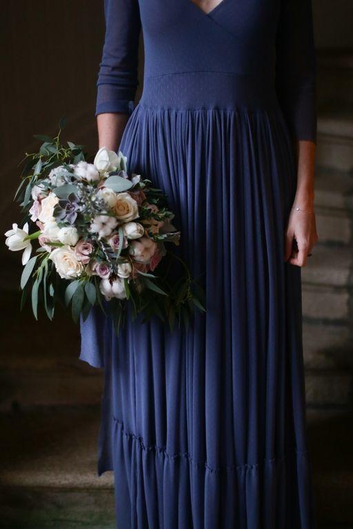 Amandine Ropars photographe - Shooting inspiration mariage en bleu - #wedding #blue #dress #inspiration #editorial #mariage #bleu #bouquet #fleurs #flowers
