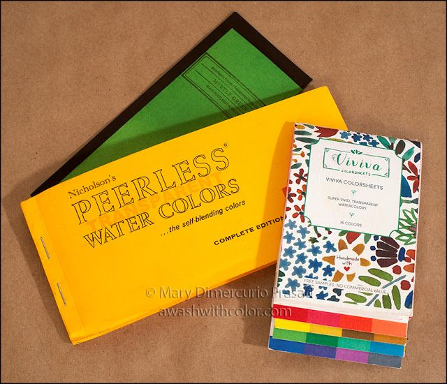 Review Comparison Viviva Colorsheets And Peerless Watercolors