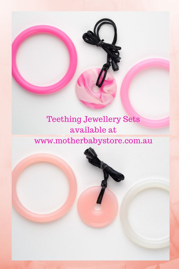 Teething Jewellery available at www.motherbabystore.com.au Teething Bling Pendants and Bangles