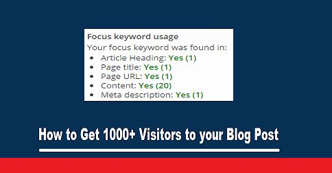Basic Ways to Attract Thousands of Visitors to your Next Blog Post.