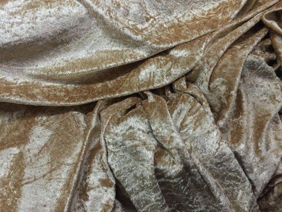 Import - Export - Wholesale - Retail | Gold crushed velvet velour dress stretchy fabric - UK